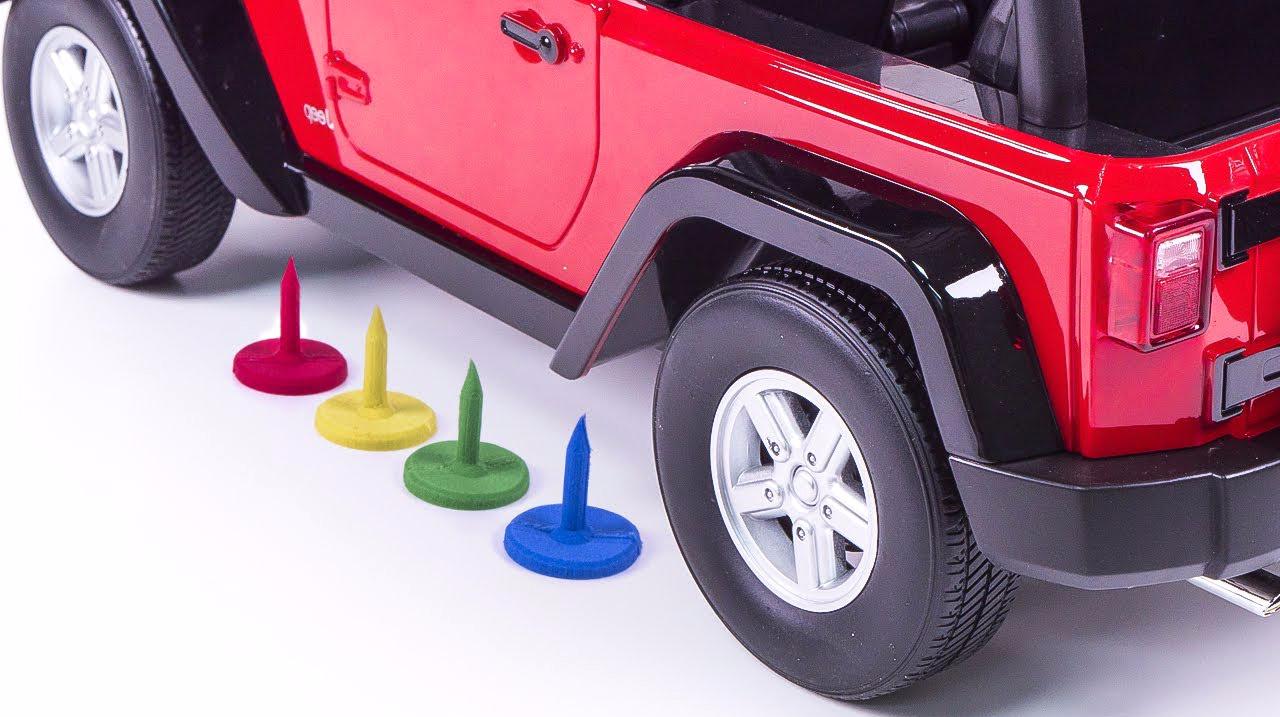 创意DIY彩虹太空沙钉对决汽车轮子!太空沙创意新玩法,视频教程分分钟亮瞎你!
