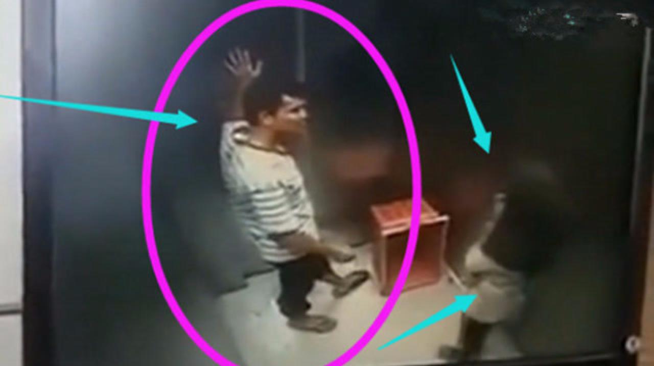 电梯里一男一女竟干这种事,监控正好拍下了让人恶心的一幕!