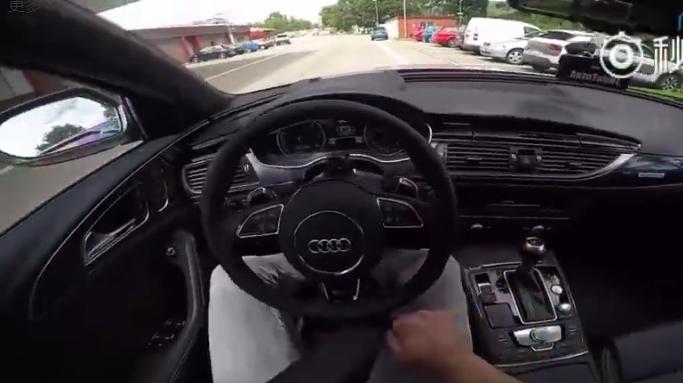奥迪RS6德国高速一路狂飙,德国人的行车素质亮了